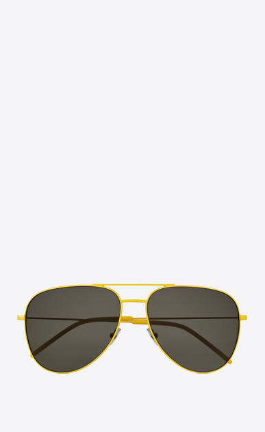 SAINT LAURENT CLASSIC E Classic 11 yellow and brown sunglasses a_V4