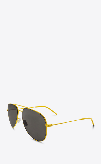 SAINT LAURENT CLASSIC E Classic 11 yellow and brown sunglasses b_V4