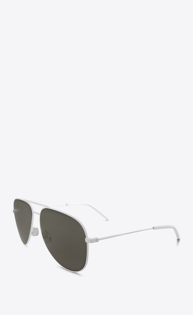 SAINT LAURENT CLASSIC E Classic 11 white and gray sunglasses b_V4