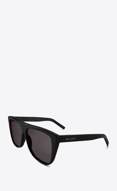 SAINT LAURENT NEW WAVE E occhiali da sole new wave 1 in pelle effetto coccodrillo neri b_V4