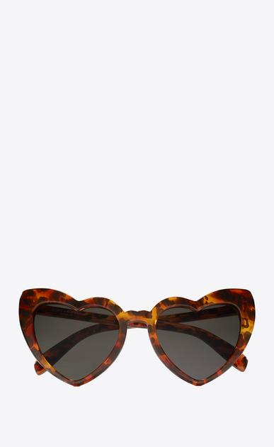 SAINT LAURENT NEW WAVE Woman New Wave 181 Loulou heart leopard print sunglasses a_V4