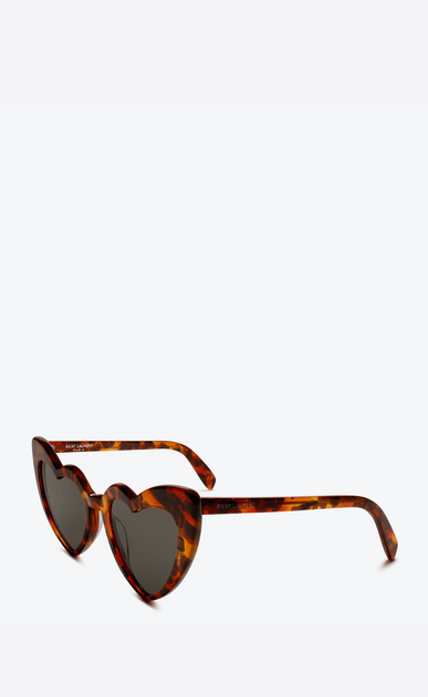SAINT LAURENT NEW WAVE Woman New Wave 181 Loulou heart leopard print sunglasses b_V4
