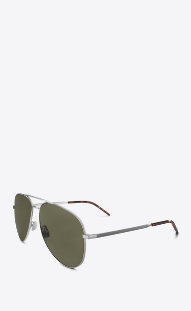 SAINT LAURENT CLASSIC E CLASSIC 11 FOLK silver-toned and green sunglasses b_V4