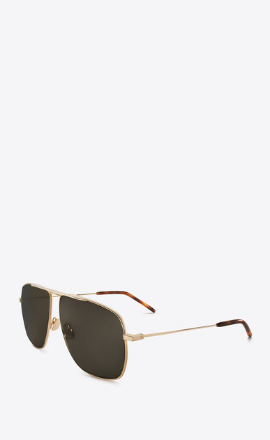 SAINT LAURENT CLASSIC E CLASSIC 251 gold-toned and gray sunglasses b_V4