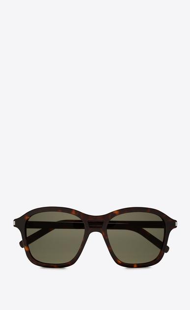SAINT LAURENT CLASSIC E CLASSIC 258 dark havana and green sunglasses a_V4