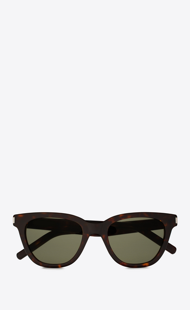 SAINT LAURENT CLASSIC E CLASSIC 51 SMALL black and green sunglasses a_V4