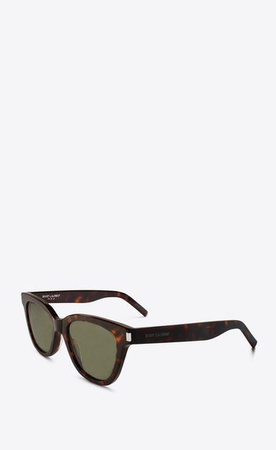 SAINT LAURENT CLASSIC E CLASSIC 51 SMALL black and green sunglasses b_V4