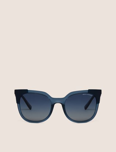 COLORBLOCK CAT-EYE SUNGLASSES