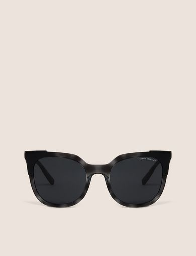 GREY TORTOISE MOD CAT EYE SUNGLASSES
