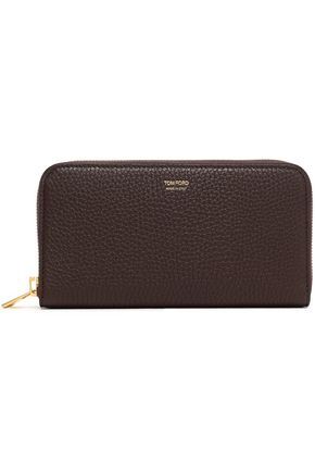 TOM FORD Textured-leather wallet