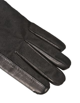 Scuderia Ferrari Online Store - Men's lambskin and microfiber gloves - Regular Gloves