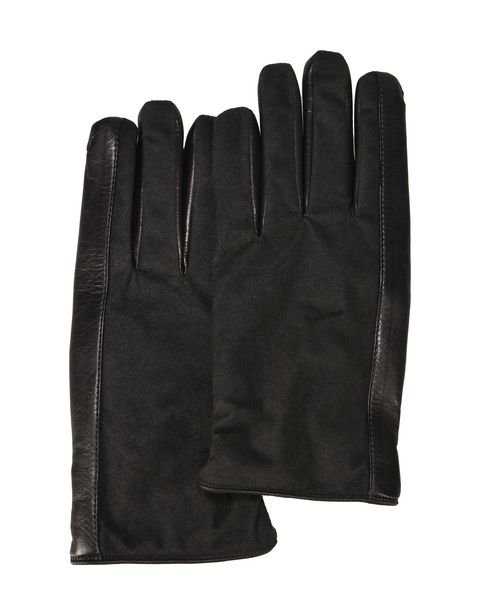 Men's gloves in lambskin and microfibre