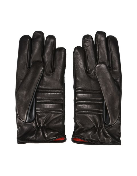 Men's lambskin and microfiber gloves