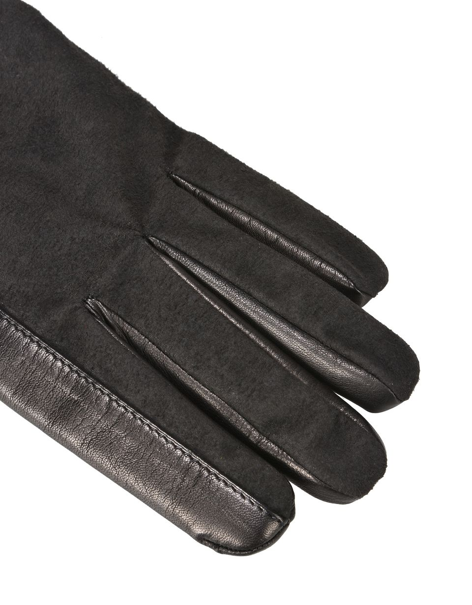 Scuderia Ferrari Online Store - Men's gloves in lambskin and microfibre - Regular Gloves
