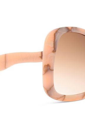 VICTORIA BECKHAM Butterfly-frame printed acetate sunglasses