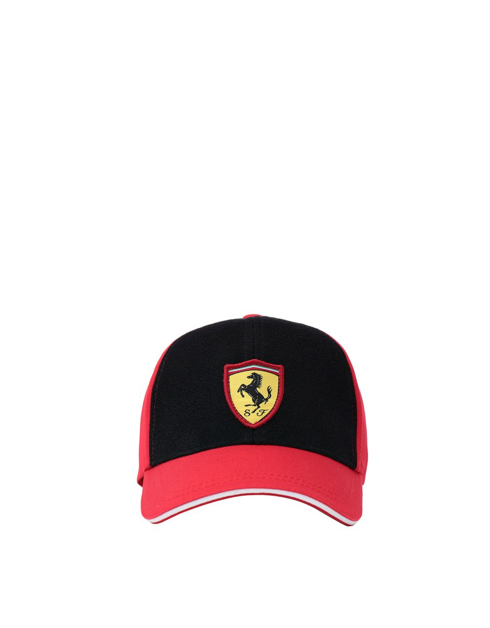 Scuderia Ferrari Online Store - Children's cap with embroidered Velcro patches - Baseball Caps