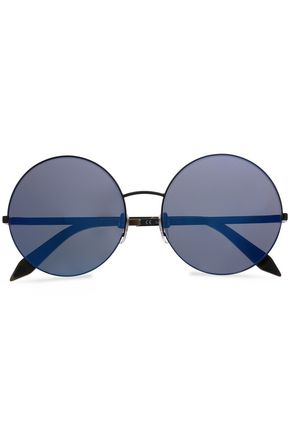 VICTORIA BECKHAM Supra round-frame metal and acetate sunglasses