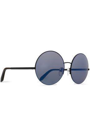 VICTORIA BECKHAM Supra round-frame metal and acetate sunglasses