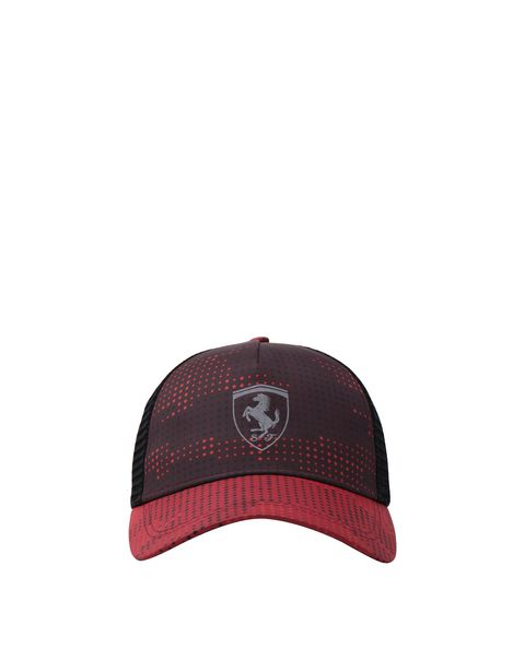 Perforated men's cap with camo print