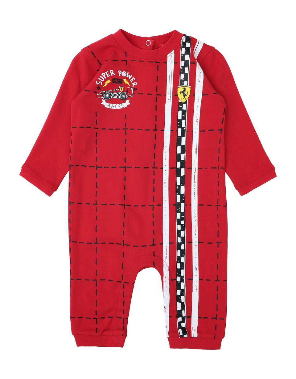 Scuderia Ferrari Online Store - Infant all-in-one in cotton - Jumpsuits