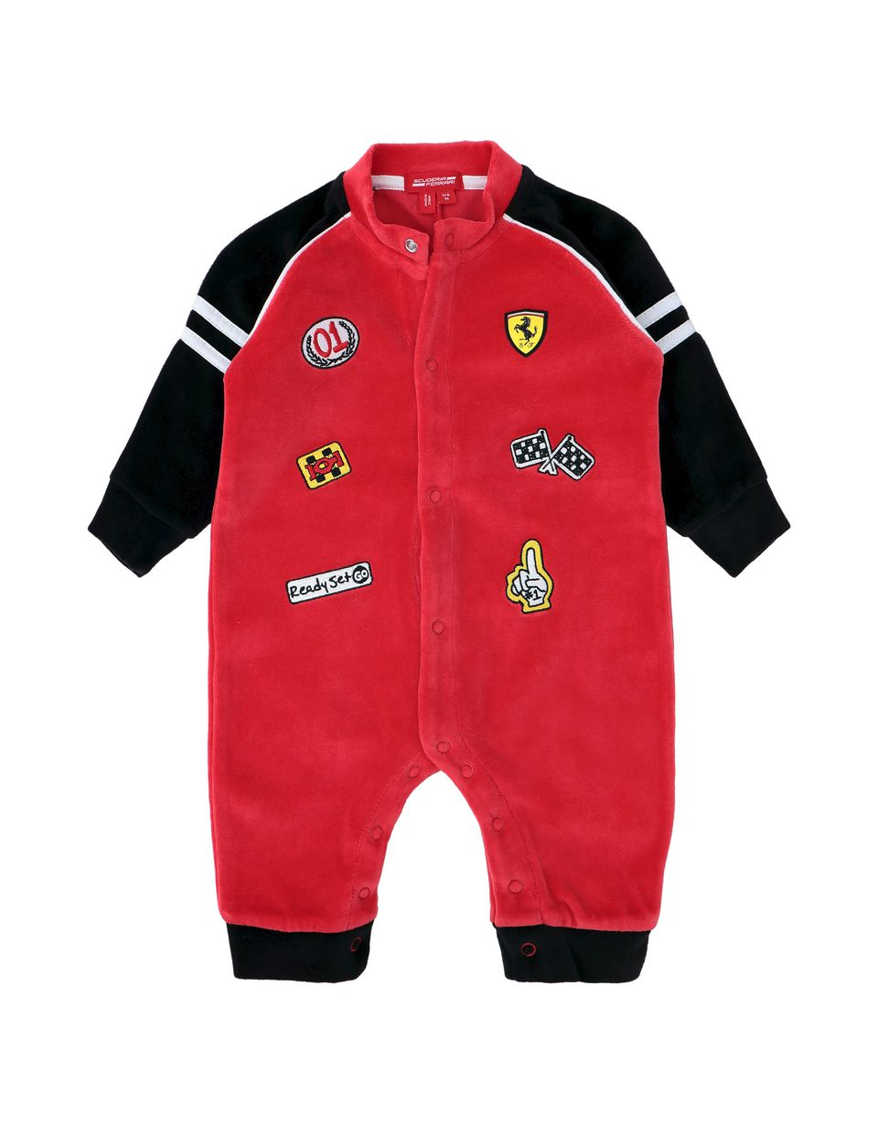 Scuderia Ferrari Online Store - Infant all-in-one in chenille - Jumpsuits