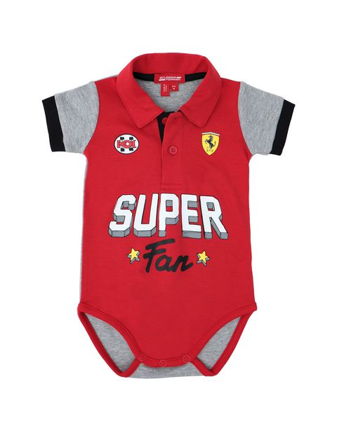 Infant polo neck bodysuit