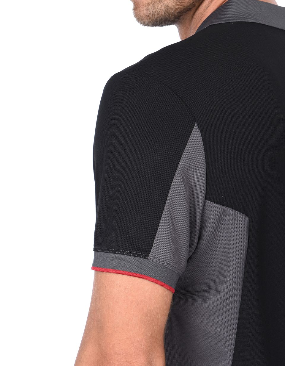Scuderia Ferrari Online Store - Men's technical cotton piquet short-sleeved polo shirt - Short Sleeve Polos