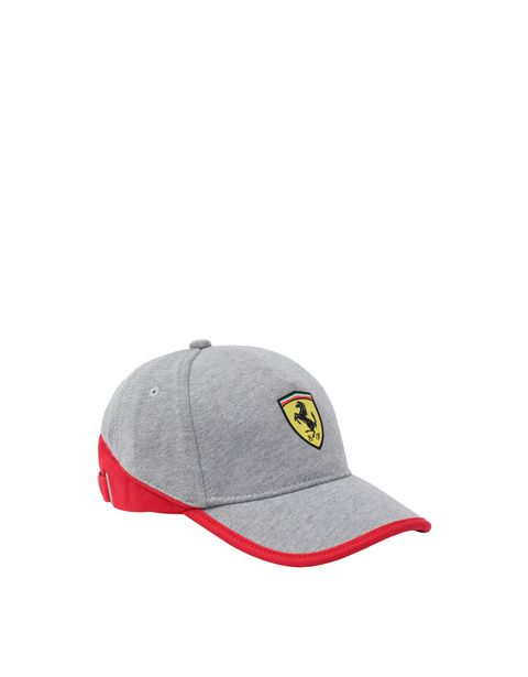 Kids' jersey hat with red stripe