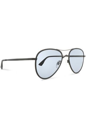 LE SPECS Aviator-style metal sunglasses