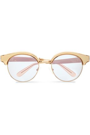 LE SPECS Round-frame acetate and gold-tone sunglasses