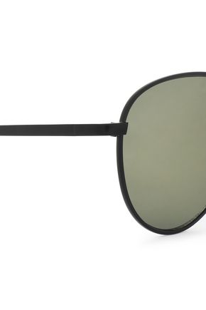LE SPECS Aviator-style metal sunglasses