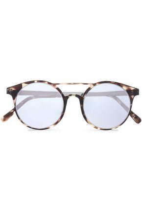 LE SPECS Round-frame tortoiseshell acetate and silver-tone sunglasses
