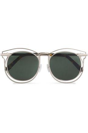 KAREN WALKER D-frame gold-tone and tortoiseshell acetate sunglasses