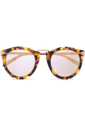 KAREN WALKER Round-frame tortoiseshell acetate and rose gold-tone sunglasses