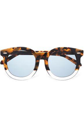 KAREN WALKER Round-frame tortoiseshell acetate and gold-tone sunglasses