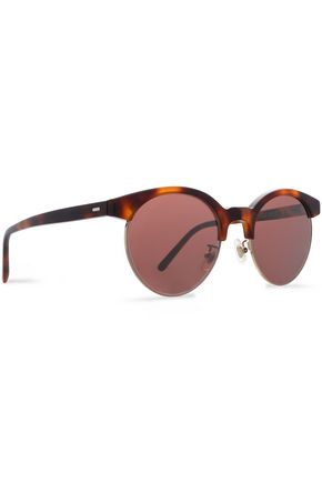 OLIVER PEOPLES Round-frame tortoiseshell acetate sunglasses