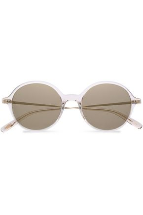 OLIVER PEOPLES Round-frame acetate and rose gold-tone sunglasses
