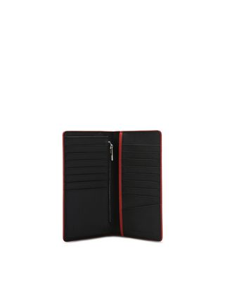 Scuderia Ferrari Online Store - Vertical wallet in Saffiano leather - Vertical Wallets
