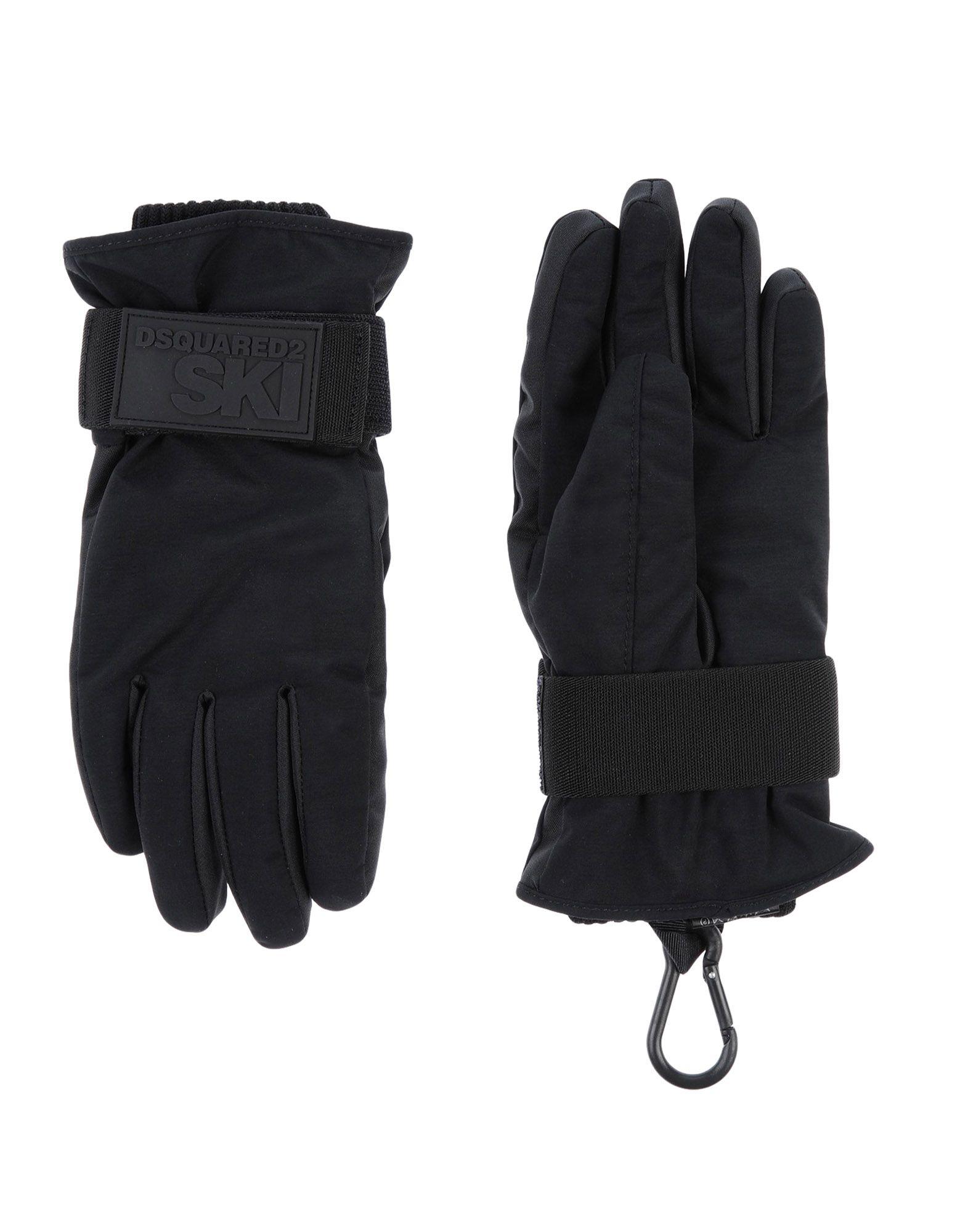 《2万円以上オーダーで送料無料》DSQUARED2 メンズ 手袋 ブラック S ナイロン 100% / ポリエステル