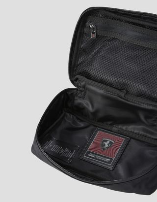 Scuderia Ferrari Online Store - Technical fabric beauty case with embroidery - Toiletry Bags