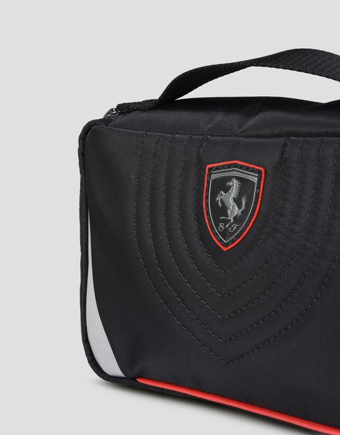 Scuderia Ferrari Online Store - Beauty case in tessuto tecnico con ricamo - Beauty Case