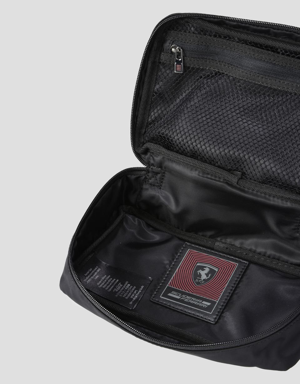 Scuderia Ferrari Online Store - Beauty case made from a technical fabric with embroidery - Toiletry Bags