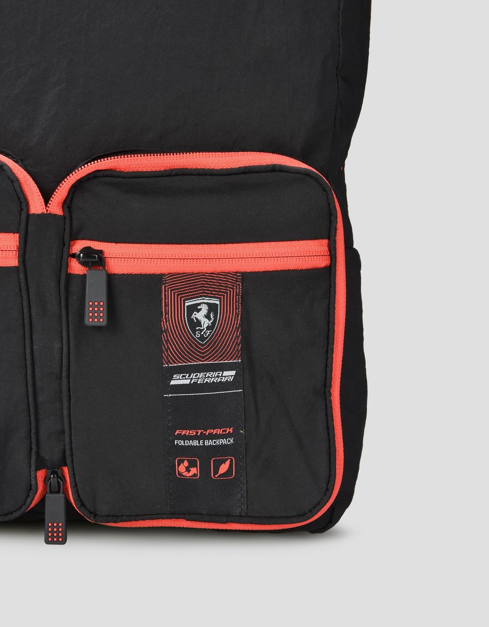 Scuderia Ferrari Online Store - Fold-away backpack with front pockets - Regular Rucksacks