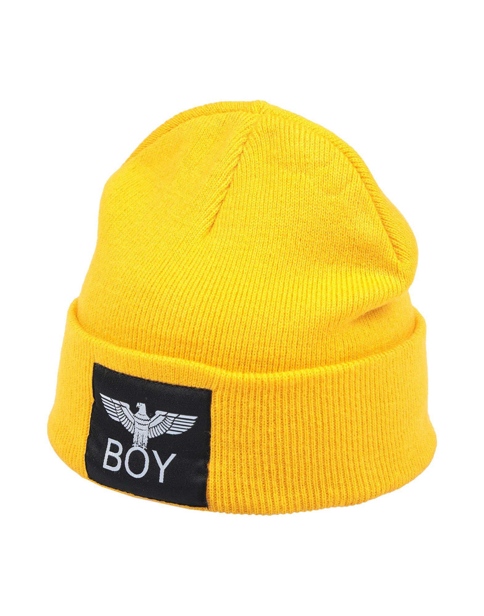 《送料無料》BOY LONDON レディース 帽子 イエロー one size アクリル 100%