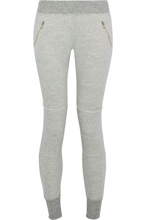 n:PHILANTROPY Stone mélange cotton-blend jersey track pants