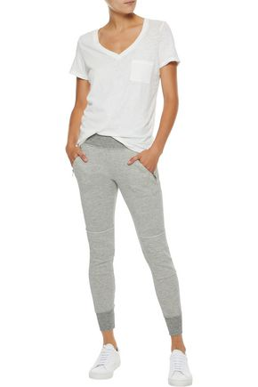 Stone Mélange Cotton Blend Jersey Track Pants by N:Philantropy