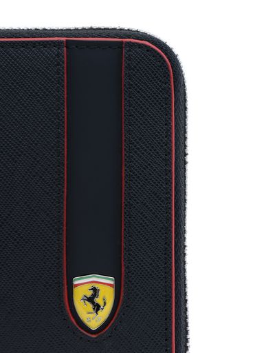 Scuderia Ferrari Online Store - Saffiano leather zip-around wallet - Zip-around Wallets