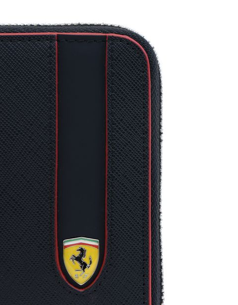 Scuderia Ferrari Online Store - Saffiano leather zip-around wallet. - Zip-around Wallets