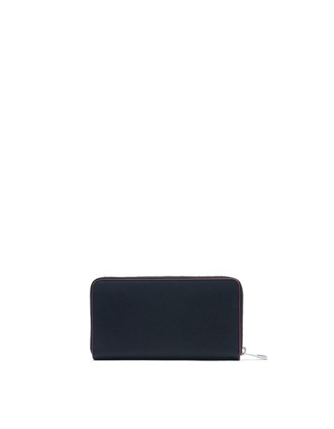 Saffiano leather zip-around wallet