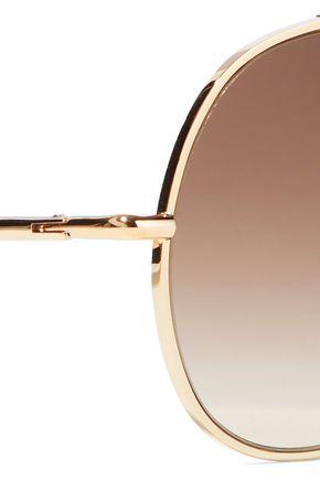 ACNE STUDIOS Spitfire aviator-style gold-tone sunglasses